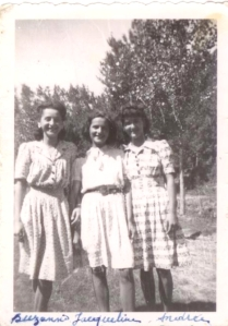 Suzanne, Jacqueline and Andrea front 1944